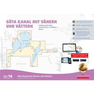SBK Satz 14 Göta Kanal mit Vänern und Vättern
