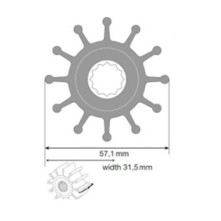 Johnson Impeller Kit für F5B Neopren
