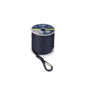 Ankerleine Polyester 12mm 30m schwarz